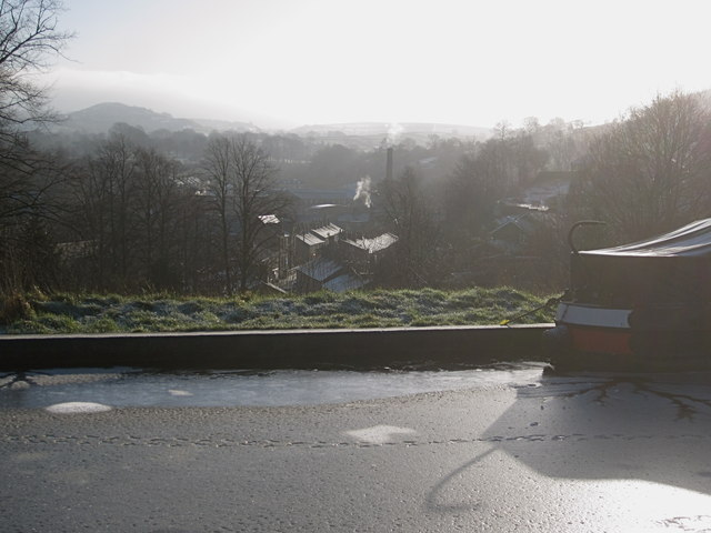 Bollington over the water looking SE