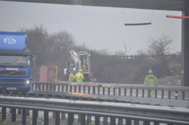 Tewkesbury : M5 Motorway Roadworks