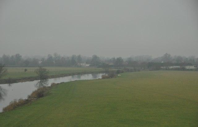 Wychavon : The River Avon & Field