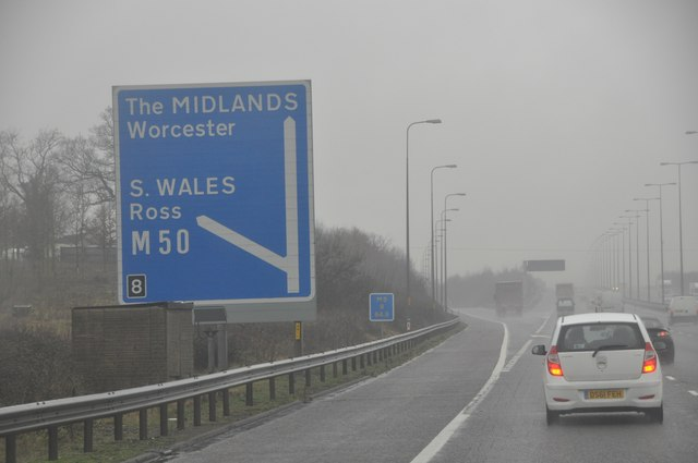 Wychavon : The M5 Motorway Northbound