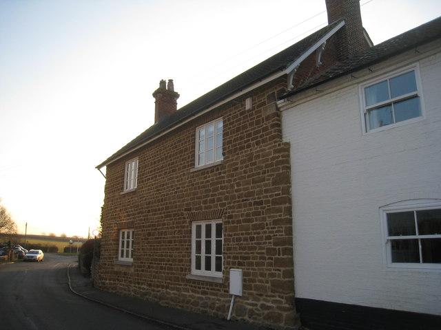 Ironstone cottage on School Lane, Harby