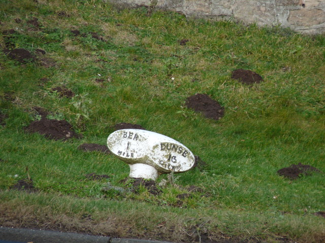 Old Milepost Marker