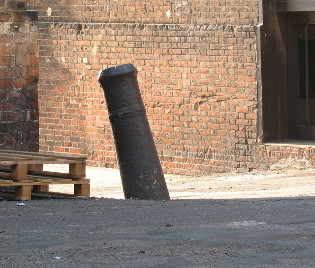 Old cannon reused as a bollard