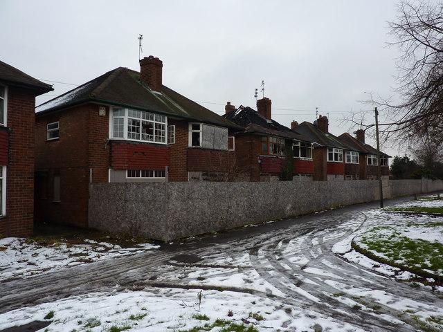 Derelict semi-detached houses, Osmaston Road