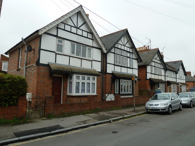 Mock Tudor houses in Chester Street