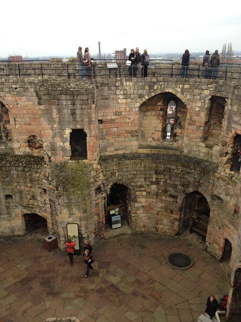 Inside Clifford's Tower, York