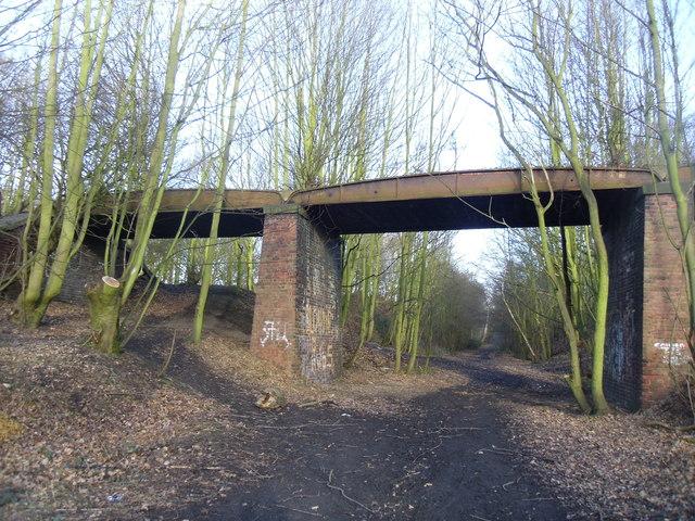 Disused bridge and Railway line.