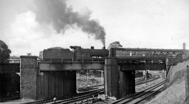 LMS 4F 0-6-0 banks an Up express out of Bristol up Fishponds Bank