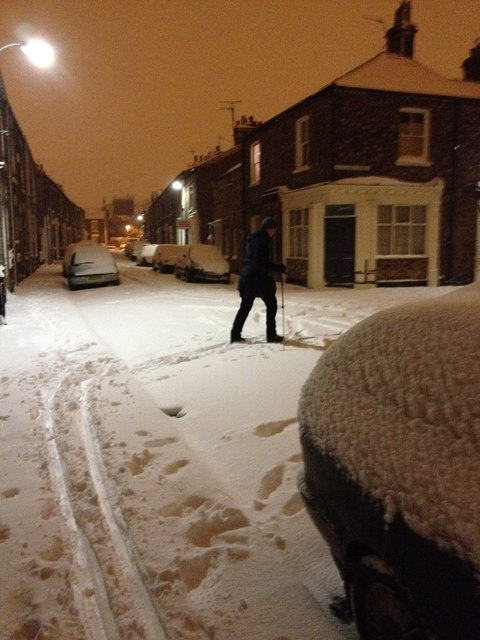 Snow thick enough to ski in, York