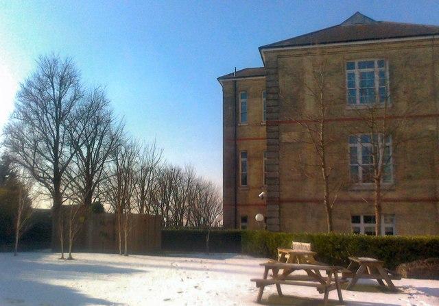 Snow in Elton John Garden