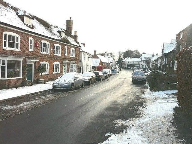 High Street, Elham looking south