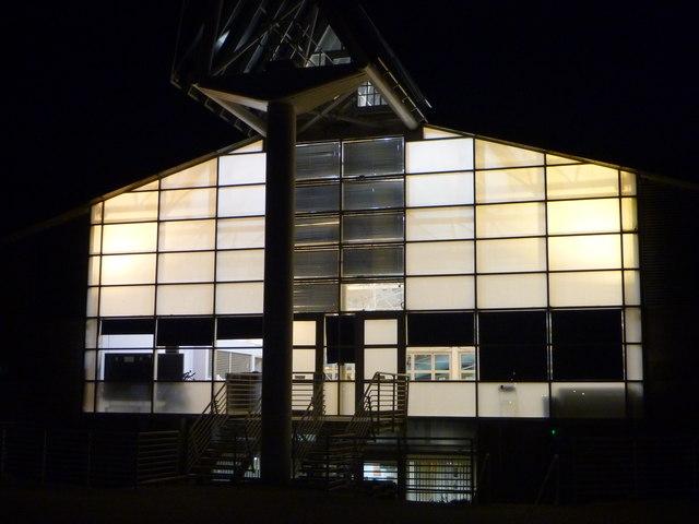 East Lothian Architecture : Dunbar Leisure Pool (West Facade)