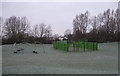 SU1486 : Pinehurst West play area, Pinehurst Road by Vieve Forward