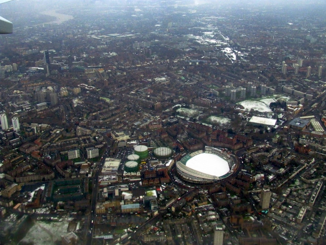 The Oval cricket ground from the air
