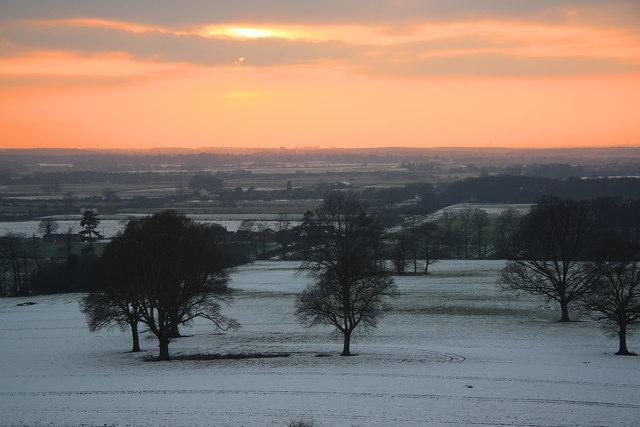 Burton parkland sunset