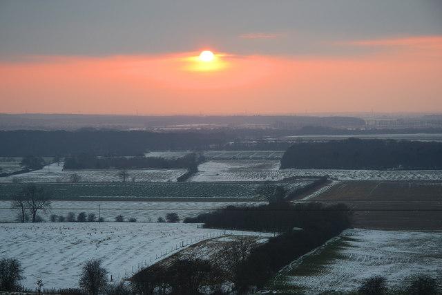 Trent valley sunset