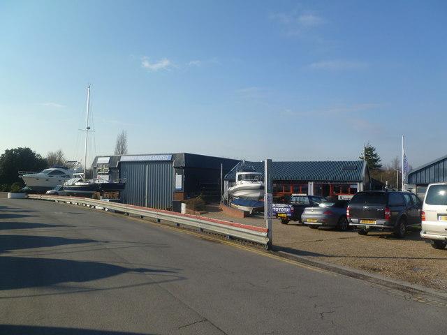 Lymington, boatyard