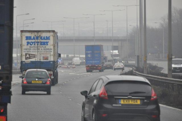 Bromsgrove : The M5 Motorway Northbound