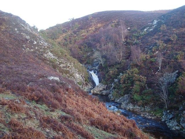Waterfall on the Kildonan Burn