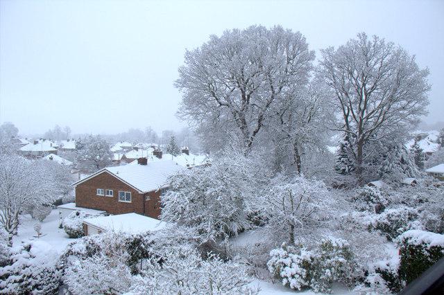 Heavy Snow in London N14