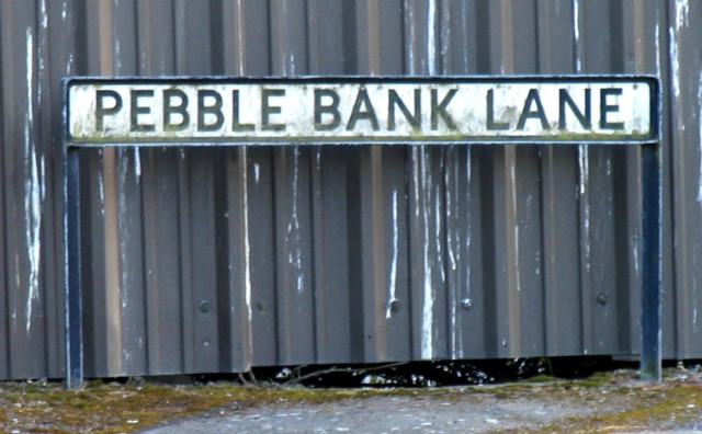 Pebble Bank Lane sign