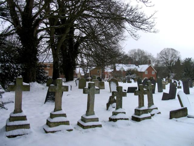 A row of crosses