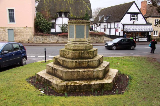 The war memorial in Prestbury