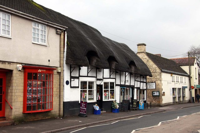The thatched Village Stores on High Street