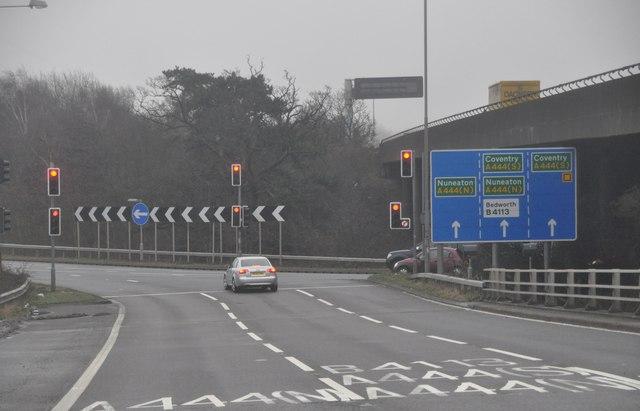 North Warwickshire : The M6 Motorway Junction 3