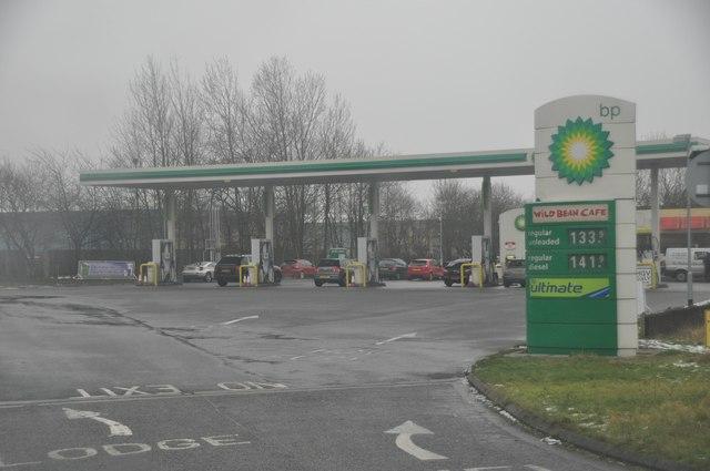 Nuneaton : BP Petrol Station