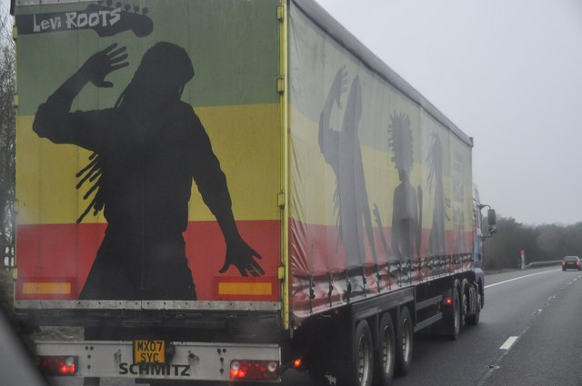 Bromsgrove : The M42 Motorway & Reggae Reggae Sauce Lorry