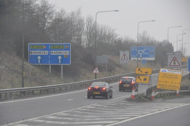 Bromsgrove : The M42 Motorway Junction 1
