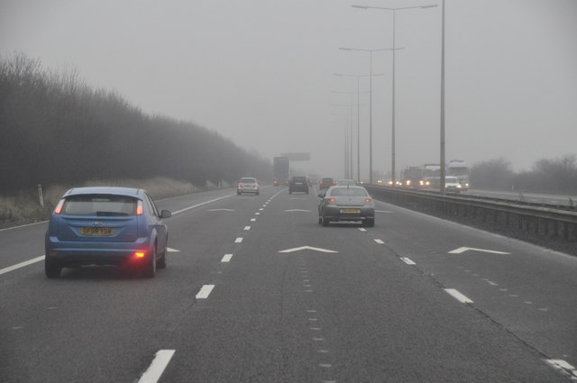 Wychavon : The M5 Motorway Southbound
