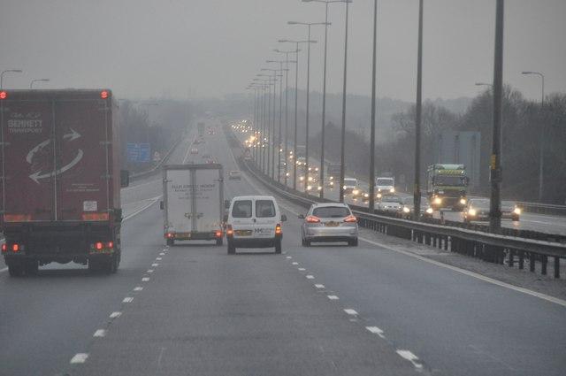 Wychavon : The M5 Motorway Southbound