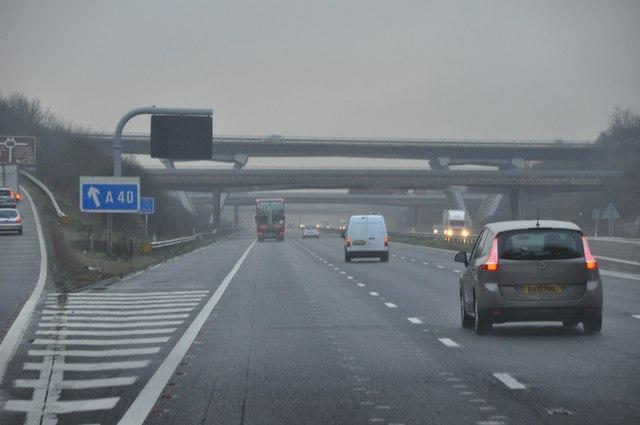 Tewkesbury : The M5 Motorway Southbound
