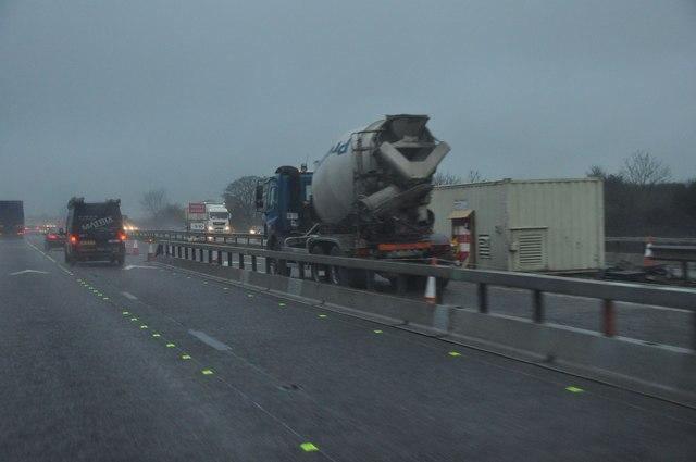 Gloucester : The M5 Motorway Roadworks