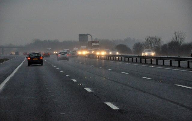 Stroud : The M5 Motorway Southbound