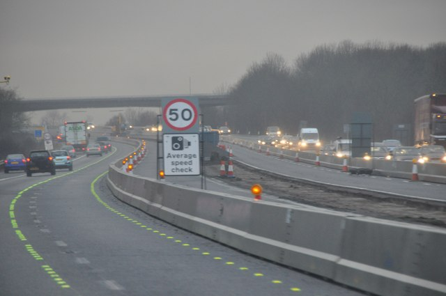 Stroud : The M5 Motorway Roadworks