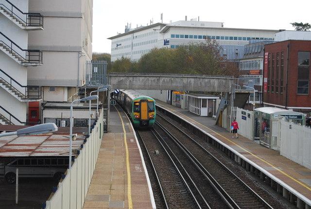 Train at Crawley Station