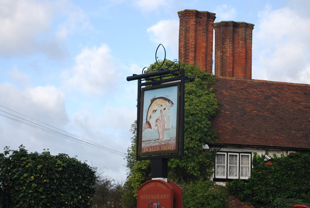 Sign, Tickled Trout, West Farleigh