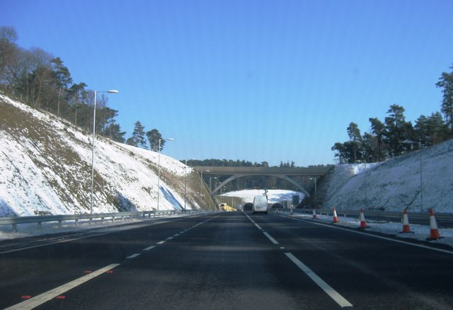 Approaching Hindhead tunnel