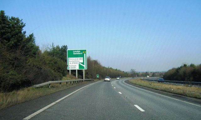 A3, turning for Milford