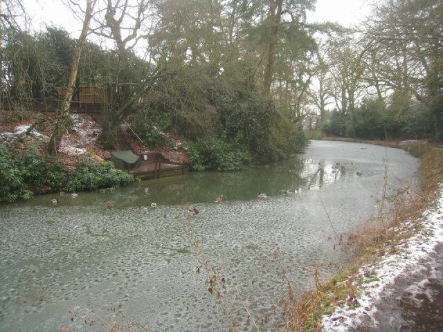 Curve in Basingstoke canal, Fleet