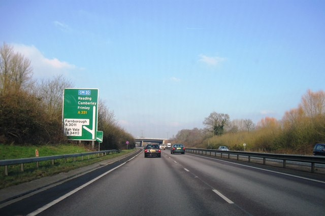 A331, turning for Ash Vale