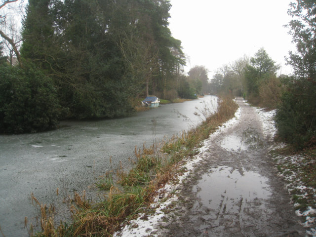 Wet going along the towpath