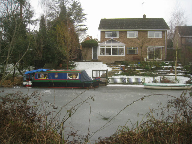A cheerful, short narrow boat