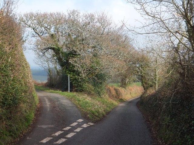 Minor junction on Greenway Lane