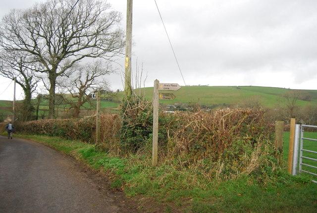 Footpaths off School House Lane