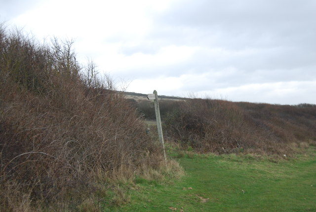 Footpath sign, South West Coast Path