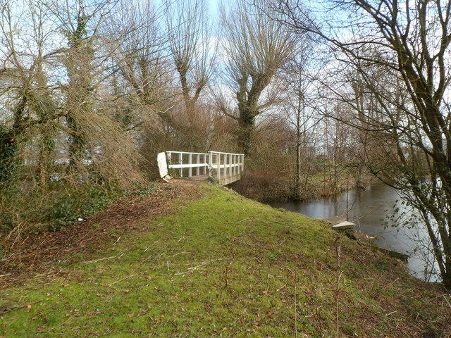 Lake footbridge, Glan Llyn, Newport